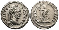 Ancient Coins - Caracalla. AR Denarius. Virtus.
