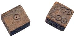 Ancient Coins - Roman Empire. Bone Dice.
