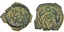 Ancient Coins - HEROD ARCHELAUS. PRUTAH. UNPUBLISHED VARIETY. INCUSED.