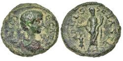 Ancient Coins - Judaea, Sebaste. Geta as Caesar, Sacrificing. Æ 23 mm.