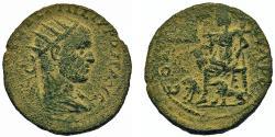 Ancient Coins - Samaria, Neapolis. Philip I. Æ 28 mm. Goddess w/Two Lions. VERY RARE.