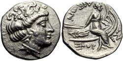 Ancient Coins - Euboia, Histiaia. AR Tetrobol. Nymph Histiaia.