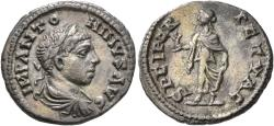 Ancient Coins - Elagabalus. AR Denarius. Spes. From the Collection of Dr. Frank Sternberg.