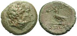 Ancient Coins - Kings of Thrace. Mostidos. Æ 20 mm. Jugate Heads Of Zeus & Hera.