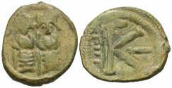 Ancient Coins - Arab-Byzantine. Æ Half-Follis. Beisan (Bet Shean). Rare.
