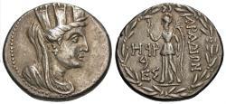 Ancient Coins - Phoenicia, Arados. AR Tetradrachm. Tyche / Nike.