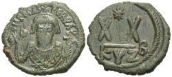 Ancient Coins - Byzantine Empire. Phocas. Æ Half Follis. Cyzicus Mint.