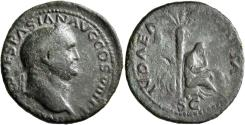 Ancient Coins - Vespasian. Æ As. Judaea Capta.