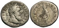 Ancient Coins - Pertinax. AR Denarius. Emperor Sacrificing. Rare.