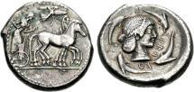 Ancient Coins - Sicily, Syracuse. AR Tetradrachm. Ex Schweizerischer Bankverein, 1992.