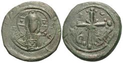 Ancient Coins - Byzantine Empire. Æ Anonymous Follis. Attributed to Nicephorus III. Class I.