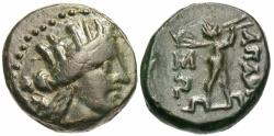Ancient Coins - Phrygia, Apameia. Æ 16 mm. Artemis / Marsyas Playing Flute.