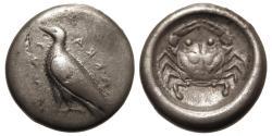 Ancient Coins - Sicily, Akragas. AR Didrachm. Eagle / Crab.