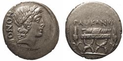 Ancient Coins - Roman Imperatorial. AR Denarius. Lollius Palicanus.