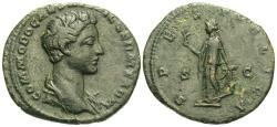 Ancient Coins - Commodus, as Caesar. Æ As. Spes.