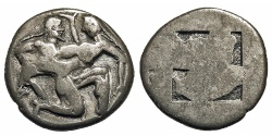 Ancient Coins - Thracian Islands, Thasos. Stater. Satyr & Nymph.