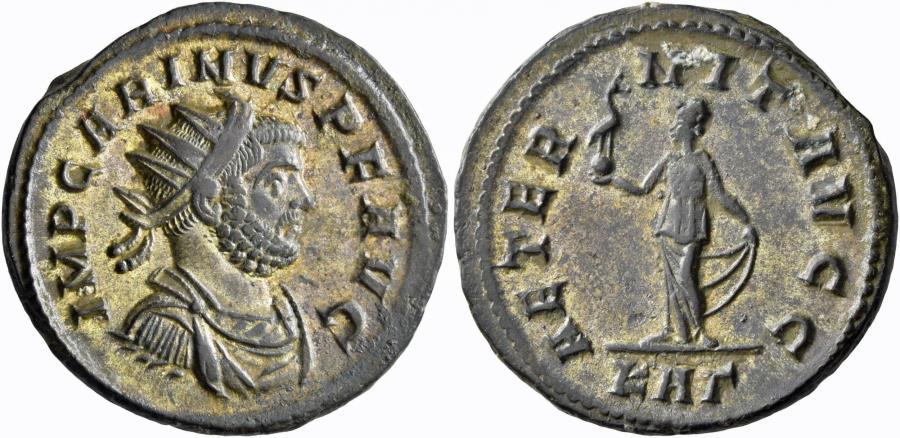 Ancient Coins - Carinus. Silvered Antoninianus. Aeternitas.