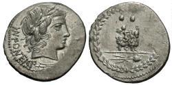 Ancient Coins - Roman Republic. Mn. Fonteius C.f. AR Denarius.
