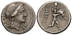 Ancient Coins - M. Herennius. AR Denarius. Amphinomus Carrying His Father.