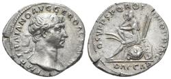 Ancient Coins - Trajan. AR Denarius. Dacia In Attitude of Mourning.