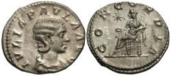 Ancient Coins - Julia Paula. Wife Of Elagabalus. AR Denarius.