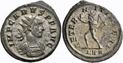 Ancient Coins - Carus. Silvered Antoninianus. Sol.