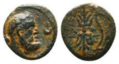 Ancient Coins - Pisidia, Selge. Æ 12 mm. Herakles / Thunderbolt.