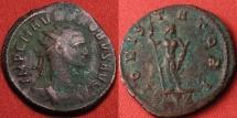 Ancient Coins - PROBUS AE antoninianus. IOVI STATORI, Jupiter standing, holding sceptre & thunderbolt. Rome