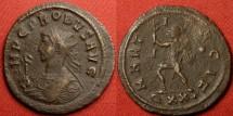 Ancient Coins - PROBUS AE antoninianus. Ticinum mint, 281 AD. MARTI PACIF, Mars advancing left.