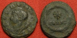 Ancient Coins - CONSTANTINOPLE city dedication commemorative. Pop Romanus, star within wreath. Rare
