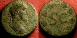 Ancient Coins - ANTONINUS PIUS AE 21mm 'as'. Antioch. SC in laurel wreath