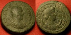 Ancient Coins - VALERIAN I radiate 24mm. Anazarbus in Cilicia. Bust of Selene on crescent.
