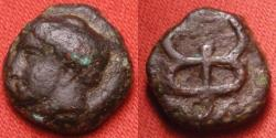 Ancient Coins - KEPHALLENIA, Islands off ELis (Peloponnesus). Hermes wearing petasos. Large kerykeion (caduceus). Rare.