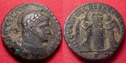 Ancient Coins - CONSTANTINE I THE GREAT AE3. Victoriae Laetae Princ Perp, Ticinum mint