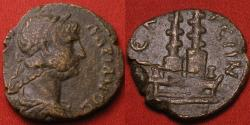 Ancient Coins - HADRIAN AE 22mm. Selge, Pisidia. Two styrax trees set on altar. Very rare.
