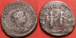 Ancient Coins - GALLIENUS billon antoninianus. Antioch/Samosata. Joint reign issue with VICTORIA AVG (one G).