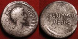 Ancient Coins - OCTAVIAN & MARCUS AGRIPPA AR silver denarius. Military mint, 38 BC. Agrippa as Consul Designatus. Rare
