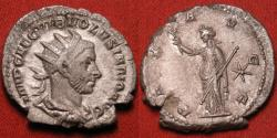 Ancient Coins - VOLUSIAN AR silver antoninianus. PAX AVGG, Pax standing, star in right field. Rome.