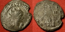Ancient Coins - QUINTILLUS AE silvered antoninianus. APOLLINI CONS, Apollo standing, holding branch, leaning on lyre.