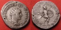 Ancient Coins - GORDIAN III AR silver antoninianus. Martem Propugnatorem, Mars advancing.