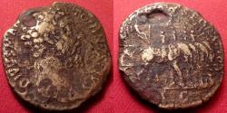 Ancient Coins - DIVUS MARCUS AURELIUS AE sestertius. CONSECRATIO, statue of Aurelius on cart drawn by four elephants.