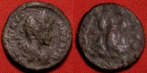 Ancient Coins - CARACALLA limes denarius. Parthian captives underneath trophy.
