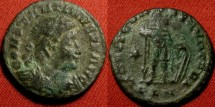 Ancient Coins - CONSTANTINE I THE GREAT AE follis. Londinium, 312-313 AD. Mars standing. Scarce.