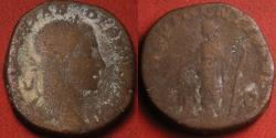 Ancient Coins - SEVERUS ALEXANDER AE sestertius. PROVIDENTIA AVG, Providentia standing, holding ears over modius & long anchor.