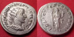 Ancient Coins - GORDIAN III AR silver antoninianus. FELICITAS TEMPORUM, Felicitas standing. 5.1 grams