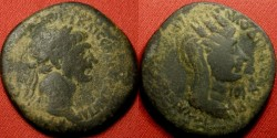 Ancient Coins - TRAJAN AE 28mm. Seleucis & Pieria, Laodicea ad Mare. Bust of Tyche wearing mural crown.