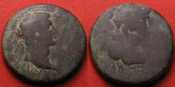 Ancient Coins - AUGUSTUS AE 26mm. Ionia. Helmeted bust of Athena