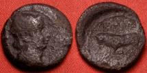 Ancient Coins - NORTHERN GAUL, under AUGUSTUS, AE quadrans. Temporary issue, struck under Germanus Indutilli. Bull butting.