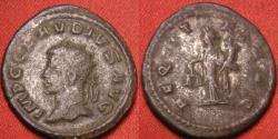 Ancient Coins - CLAUDIUS II GOTHICUS billon/silver antoninianus. Antioch mint, left facing bust. Aequitas standing. Rare
