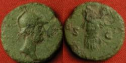 Ancient Coins - ANONYMOUS AE quadrans. Domitian to Antoninus Pius. Helmeted Mars, cuirass on reverse.